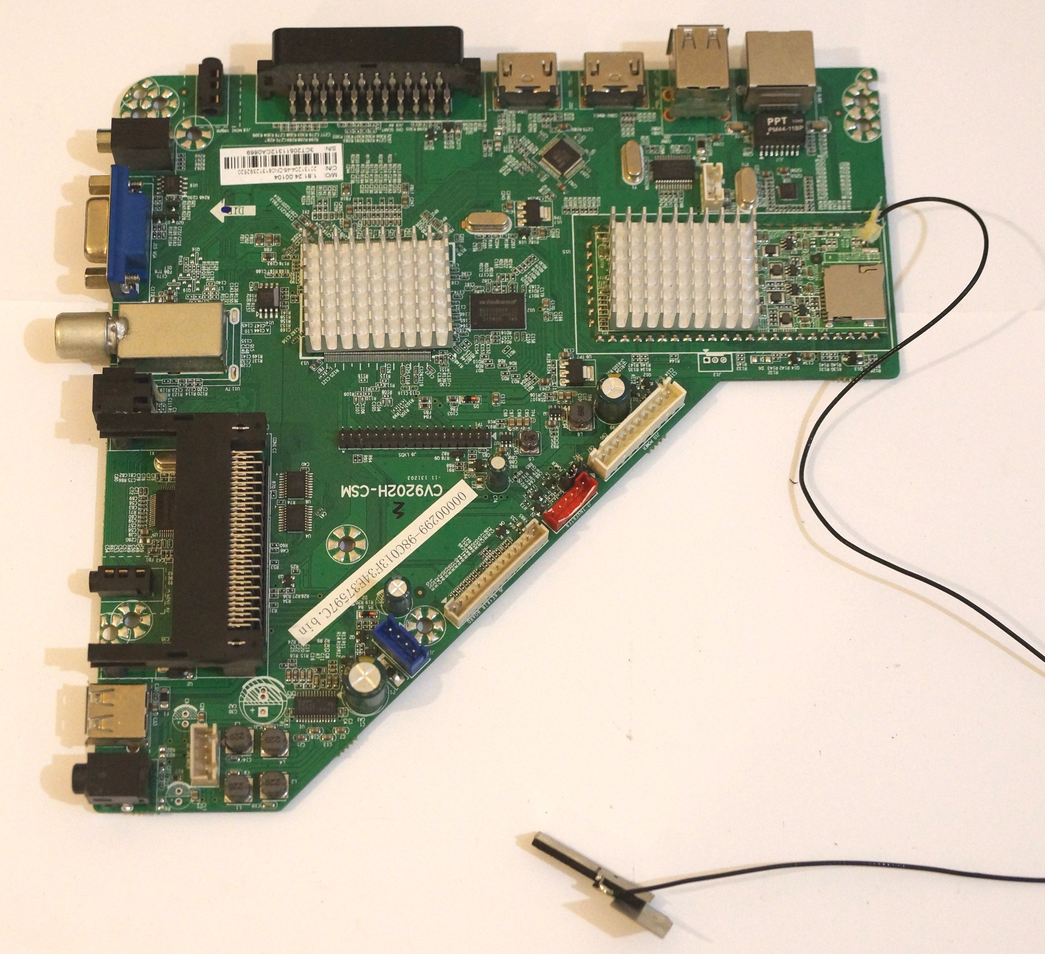 CV9202H-CSM mainboard телевизора DNS