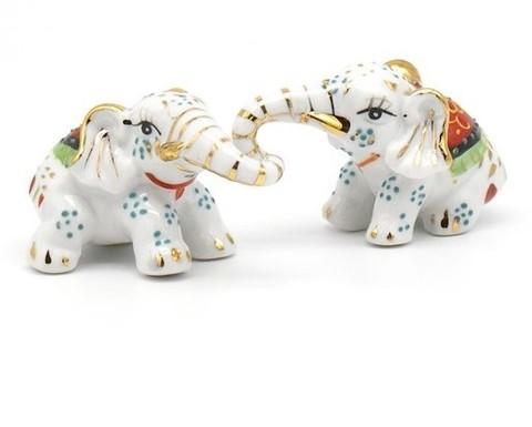Слоники фарфоровые пара мини