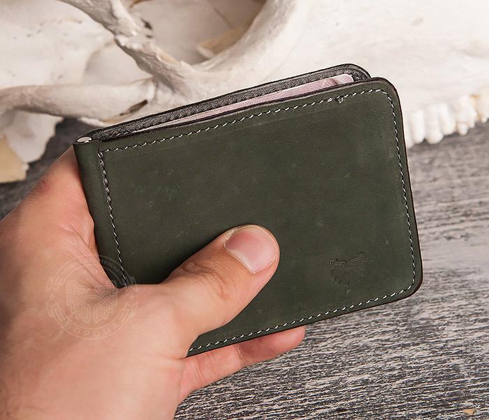 WB108-4 Яркий кошелек ручной работы с зажимом для денег. «Boroda Design» фото 08