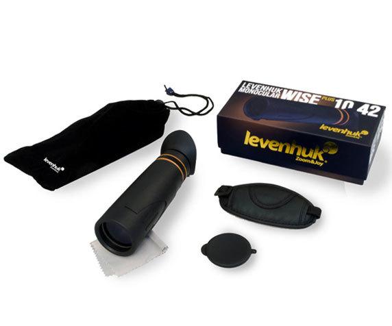 Комплект поставки монокуляра Levenhuk Wise Plus 10x42