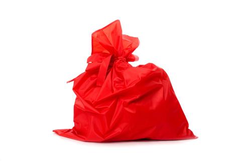 Мешок Деда Мороза красный, сатин