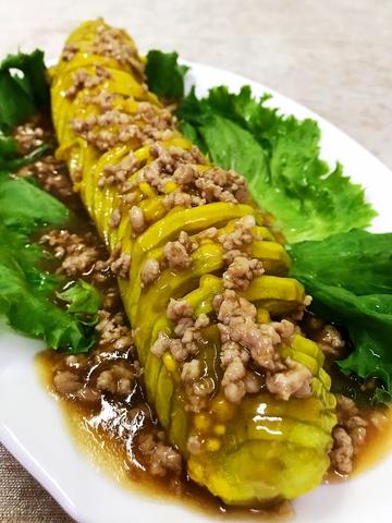 38-8Баклажаны с соусом из мясного фарша乌龙茄子