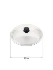 Крышка стеклянная жаропрочная без ободка Dutamel диаметр 22 см DTM-033