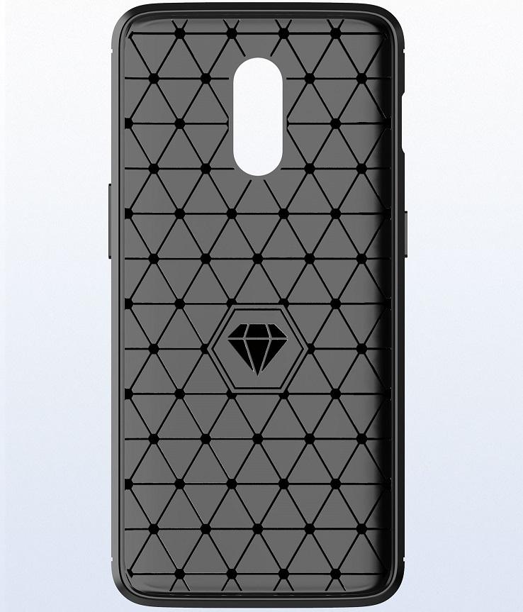Чехол OnePlus 6T цвет Gray (серый), серия Carbon, Caseport