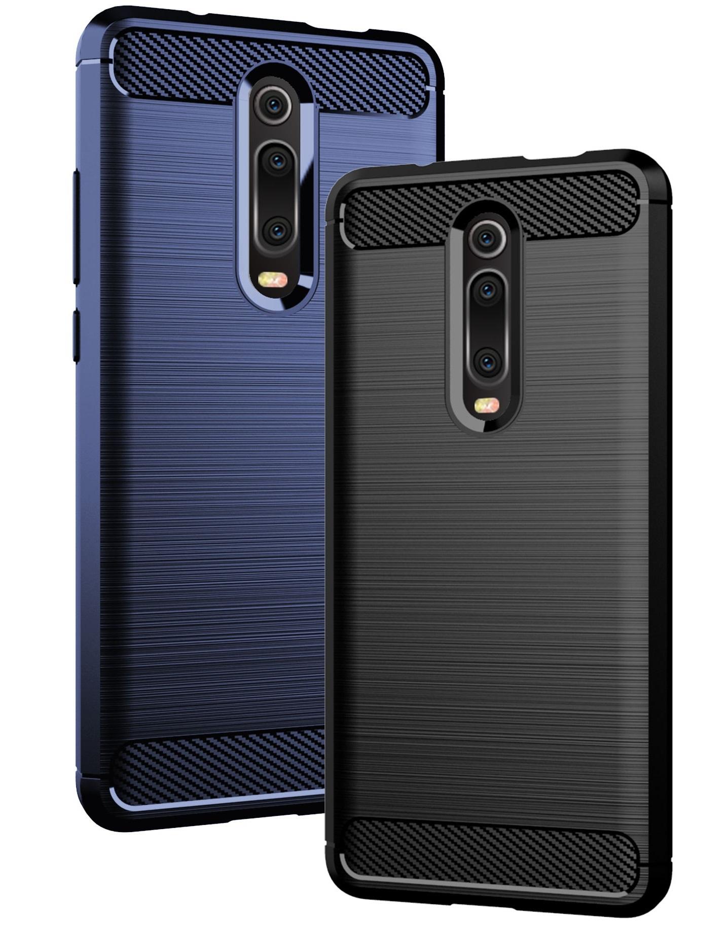 Чехол для Xiaomi Mi 9T (9T Pro, Redmi K20, K20 Pro,K20 Pro Premium) цвет Blue (синий), серия Carbon от Caseport