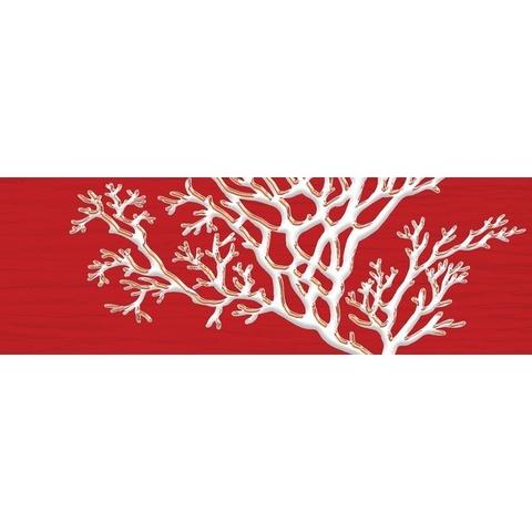 Декор Коралл красный 04-01-1-17-03-45-901-5 600х200х9