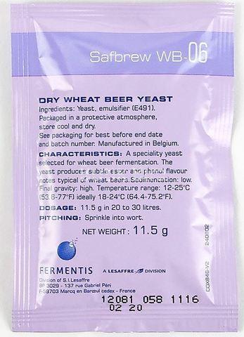 Дрожжи пивные Safbrew WB-06 (11,5 гр) Fermentis