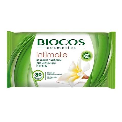 BioCos. Влажные салфетки для интимной гигиены, 15 шт.