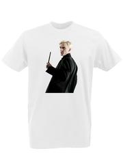 Футболка с принтом Гарри Поттер (Harry Potter/ Гриффиндор, Слизерин, Когтевран, Пуффендуй) белая 00040