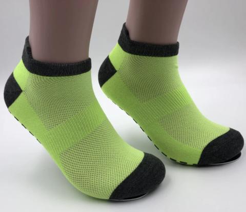 Носки с нескользящей подошвой - Усиленные (р. 40-42, Лайм Блэк)
