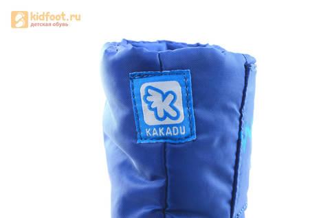 Зимние сапоги для мальчиков непромокаемые с резиновой галошей Фиксики, цвет синий, Water Resistant. Изображение 16 из 17.