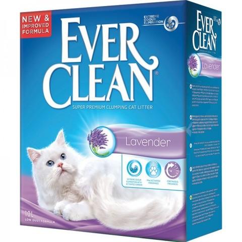 EVER CLEAN Комкующийся наполнитель с ароматом лаванды Lavander