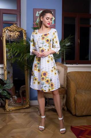 Платье-туника подсолнухи