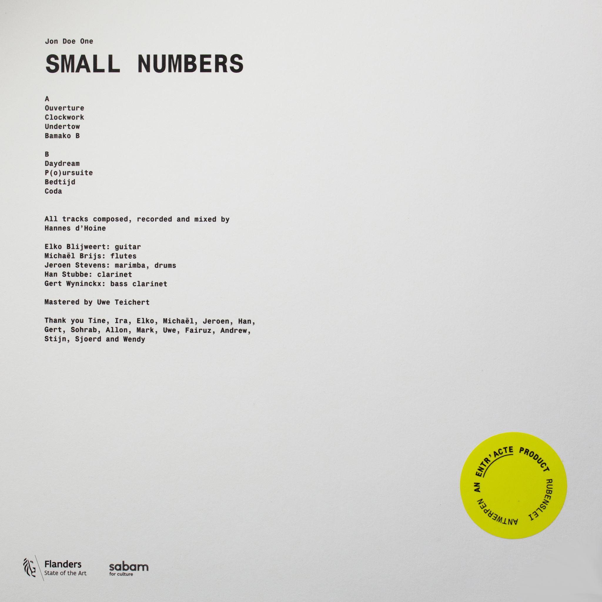 Small Numbers