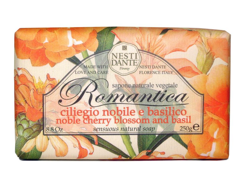 ROMANTICA Noble Cherry Blossom & Basil / Вишневый цвет и базилик мыло 250 гр