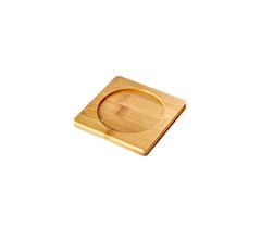 Подставка для пиал, чашек и кружек, бамбуковая, 10*10 см
