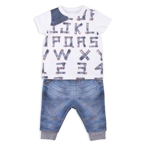 Папитто. Комплект футболка и штанишки для мальчика FASHION JEANS