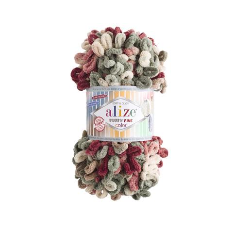 Купить Пряжа Ализе Пуффи Файн Колор Код цвета 6039 | Интернет-магазин пряжи «Пряха»