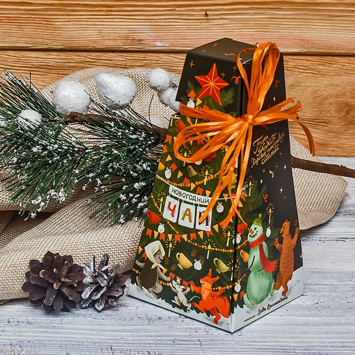 Купить чай на Новый год в подарок в красивой упаковке Пермь