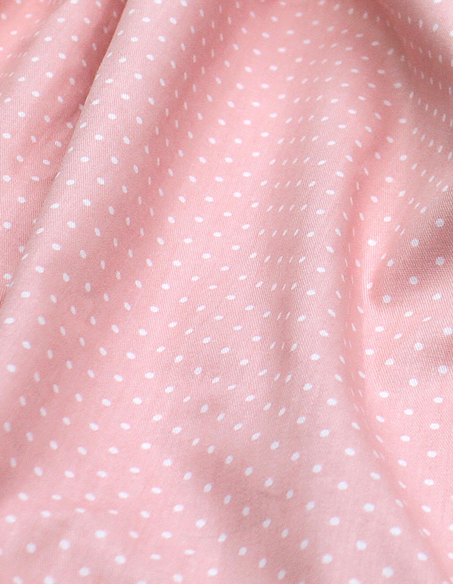 Горошек белый,розовый фон