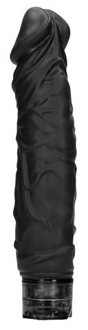 Черный вибромассажер Realisic 10 speed Vibrator - 24 см.