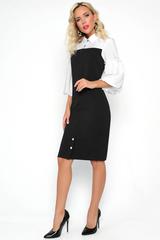 """<p>Представляем Вам потрясающее платье """"Олимп"""" из нашей новой коллекции. Иммитация сарафана и оригинальной блузки с модными, пышными рукавами """"балон"""" добавит изюминку Вашему образу.&nbsp;</p>"""
