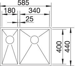 Мойка Blanco Zerox 340/180-IF схема