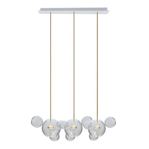Подвесной светильник копия  Bolle by Giopato & Coombes (3 плафона, прямоугольное крепление)