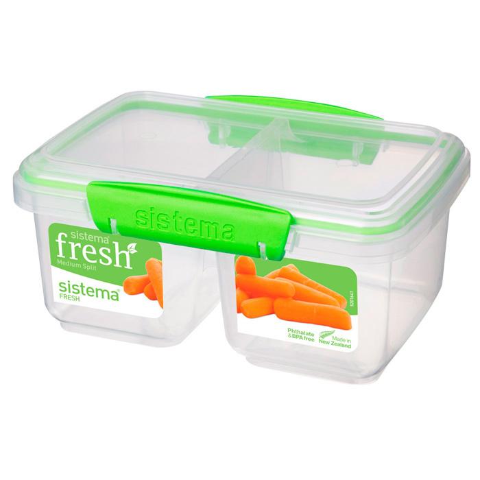 """Контейнер пищевой Sistema """"Fresh"""", двойной, 1 л"""