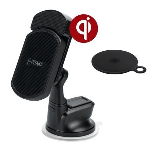 Автомобильный держатель с зарядкой (комплект 3 в 1) PITAKA Magnetic Mount QI для SAMSUNG GALAXY S9 / S9 Plus