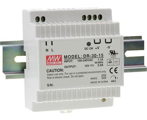Источник питания Mean Well DR-30-15 (DR-30-15 PBF MW)
