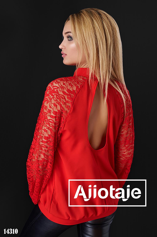 Легкая шифоновая блузка красного цвета