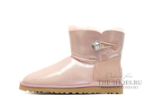 UGG BAILEY BUTTON MINI BLING METALLIC PINK