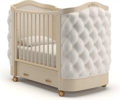 Кровать детская Тиффани декор пуговицы слоновая кость