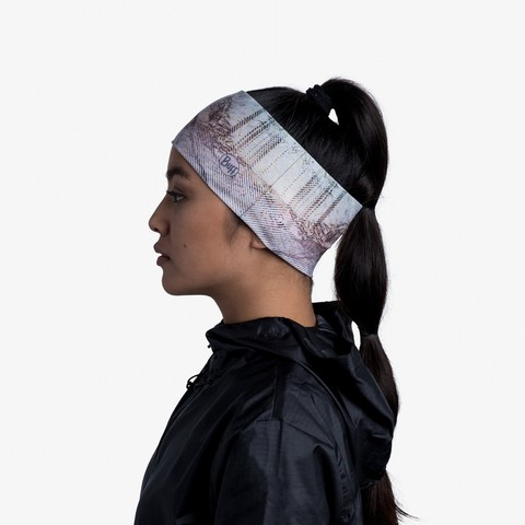 Повязка на голову спортивная Buff Headband CoolNet Pearly Blossom фото 2