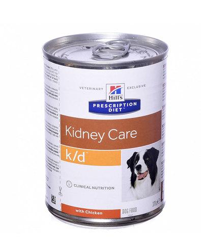 Hill's Диета консервы для собак K/D лечение заболеваний почек 370г