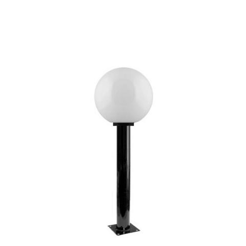 Садово-парковый светильник шар молочный D200mm с металлической опорой H600mm