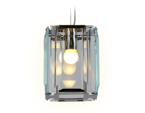 Подвесной светильник TR5107 CH/CL хром/прозрачный E27/1 max 40W 150*150*1200