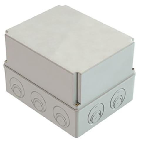 Распаячная коробка ОП 240х195х165мм, крышка, IP55, мон. плата, каб. ввод. d28-3 шт., d37-2 шт., TDM