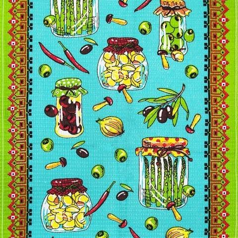 Вафельное полотно 45 см 170 гр/м2 419А цвет салат