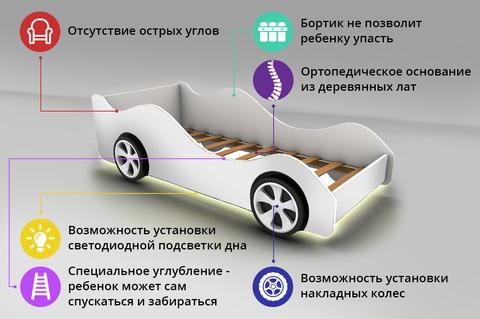 Кровать машина Тачка желтая