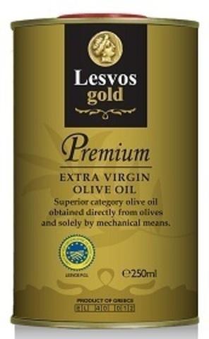 Оливковое масло класса P.G.I Lesvos gold 250 мл жесть холодный отжим