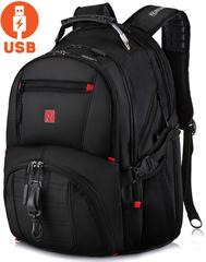 Рюкзак ROTEKORS 8112 USB Черный