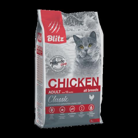 Blitz Сухой корм для кошек с курицей