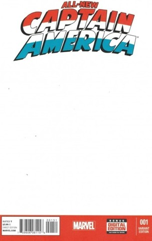 All-New Captain America #1 (Blank Cover)