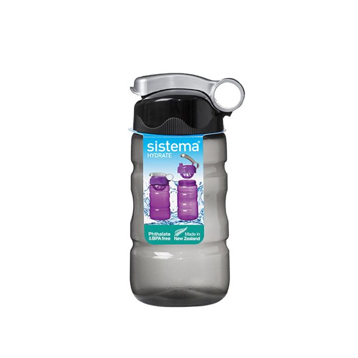 """Бутылка для воды Sistema """"Hydrate"""" 560 мл, цвет Черный"""