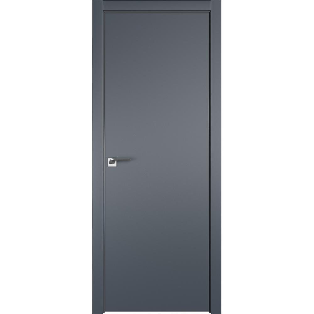 Межкомнатные двери Межкомнатная дверь экошпон Profil Doors 1E антрацит алюминиевая матовая кромка с 4-х сторон 1E_Antratsit_CHROME_MAT.jpg