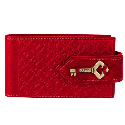 Визитница карманная «Ключ». Цвет красный