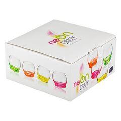 Набор цветных стаканов для воды Crystalex Crazy, 390 мл, 4 шт, фото 1