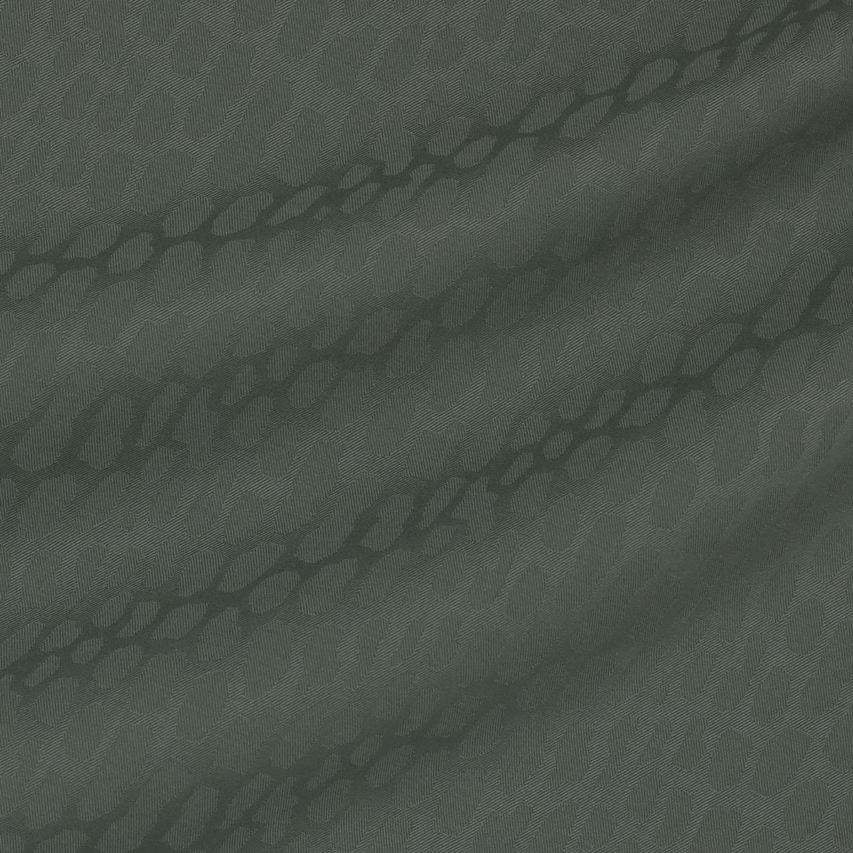 Костюмная ткань из шерсти с эластаном с леопардовыми пятнами в оливковом цвете